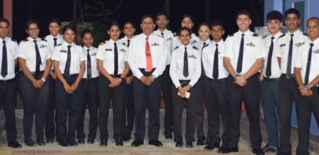 J P with pilot trainees