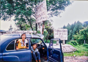 Long drive with children in car to Nepal