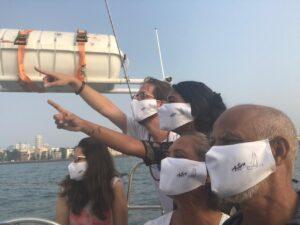 Sailing with covid precaution