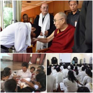 With Dalai Lama and fans
