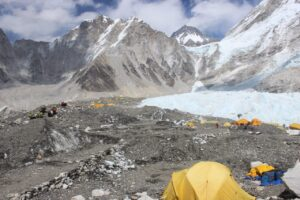 The Everest base camp view