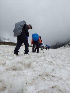 The summit final step