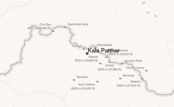 Kalapathar map